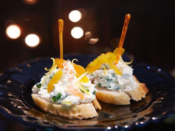 Pincho med krabba