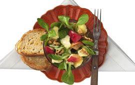 Äppelsallad med Kvibille Cheddar glögg