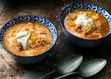 Het linssoppa med chorizo