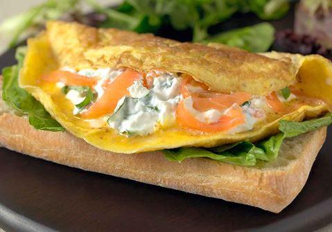 Omelett med laxkräm
