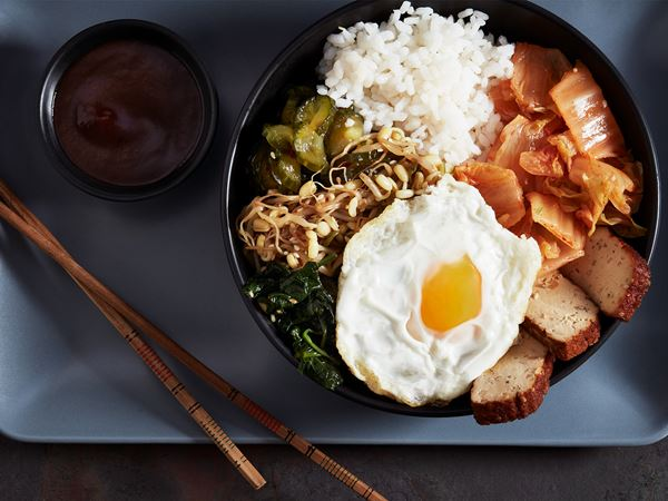 Bibimbap med tofu