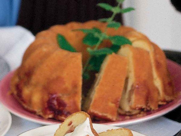 Äppelkaka med lingon