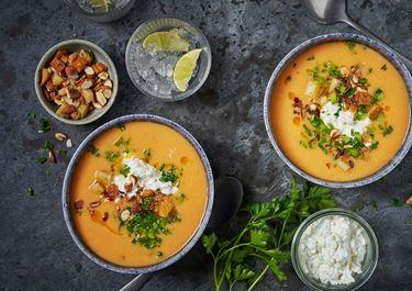 Salmorejo - Spansk tomatsoppa med cottage cheese