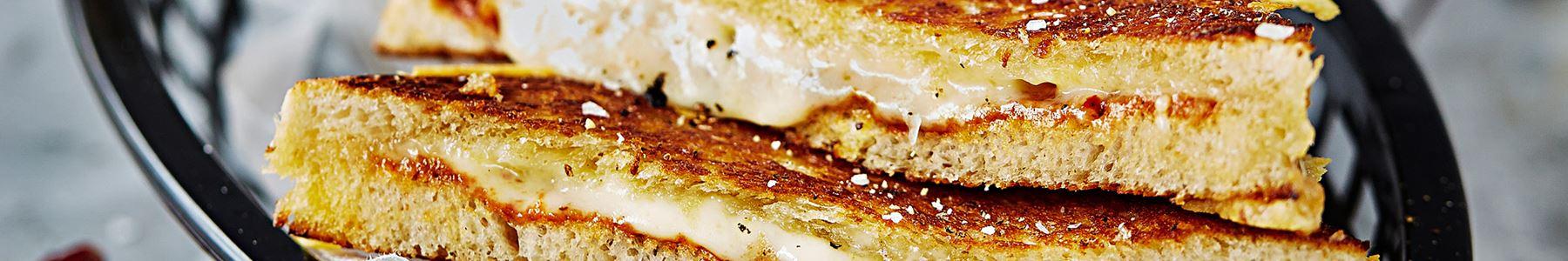 Persika + Toast + Stekt