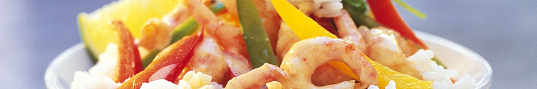 Skaldjur + Curry + Wok