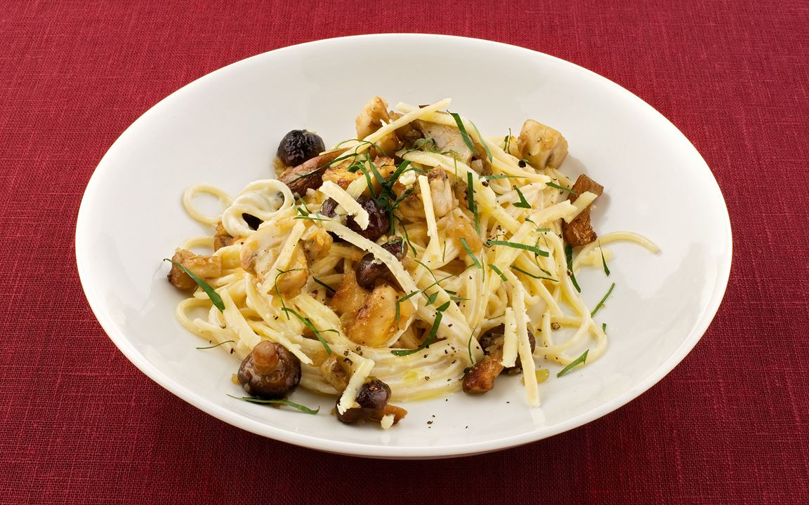 Spaghetti med svamp