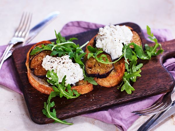 Bruschetta med aubergine