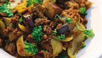 Köttfärs med aubergine