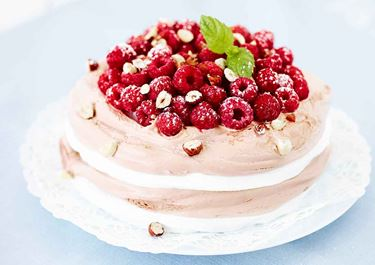 Glasstårta med chokladglass