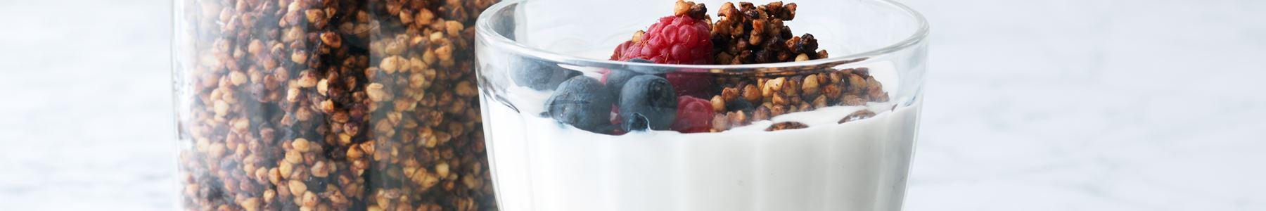 Hallon + Frukost + Glass