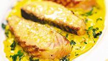 Grillad lax med citronglaze