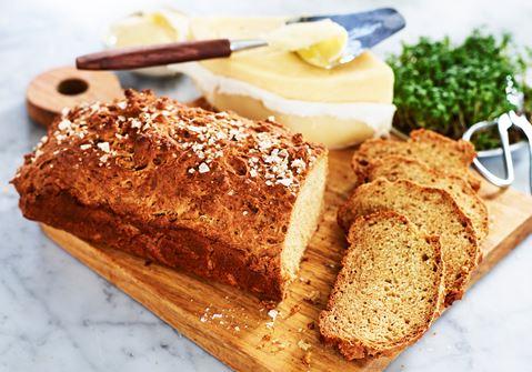 snabbt glutenfritt bröd utan jäst