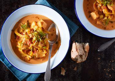 Fisksoppa med fänkål och saffran