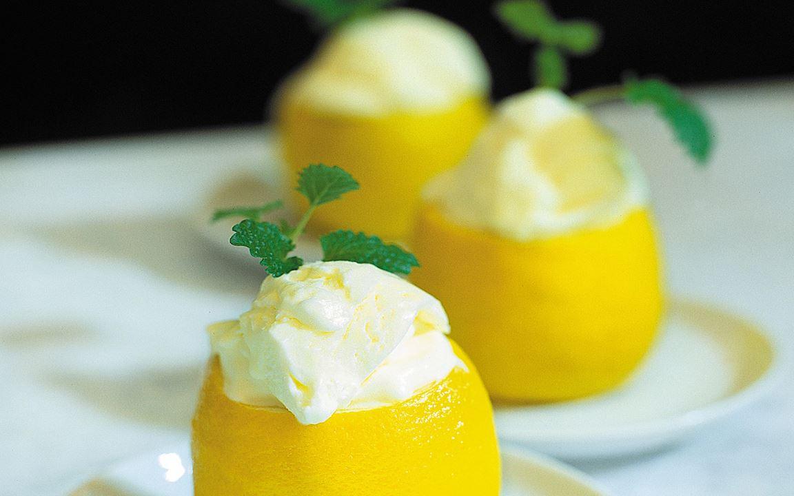 Glassfyllda citroner