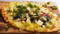 Pizzetta bianca med grillad paprika och sardiner