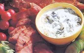Rökt lammfiol med spenatyoghurt
