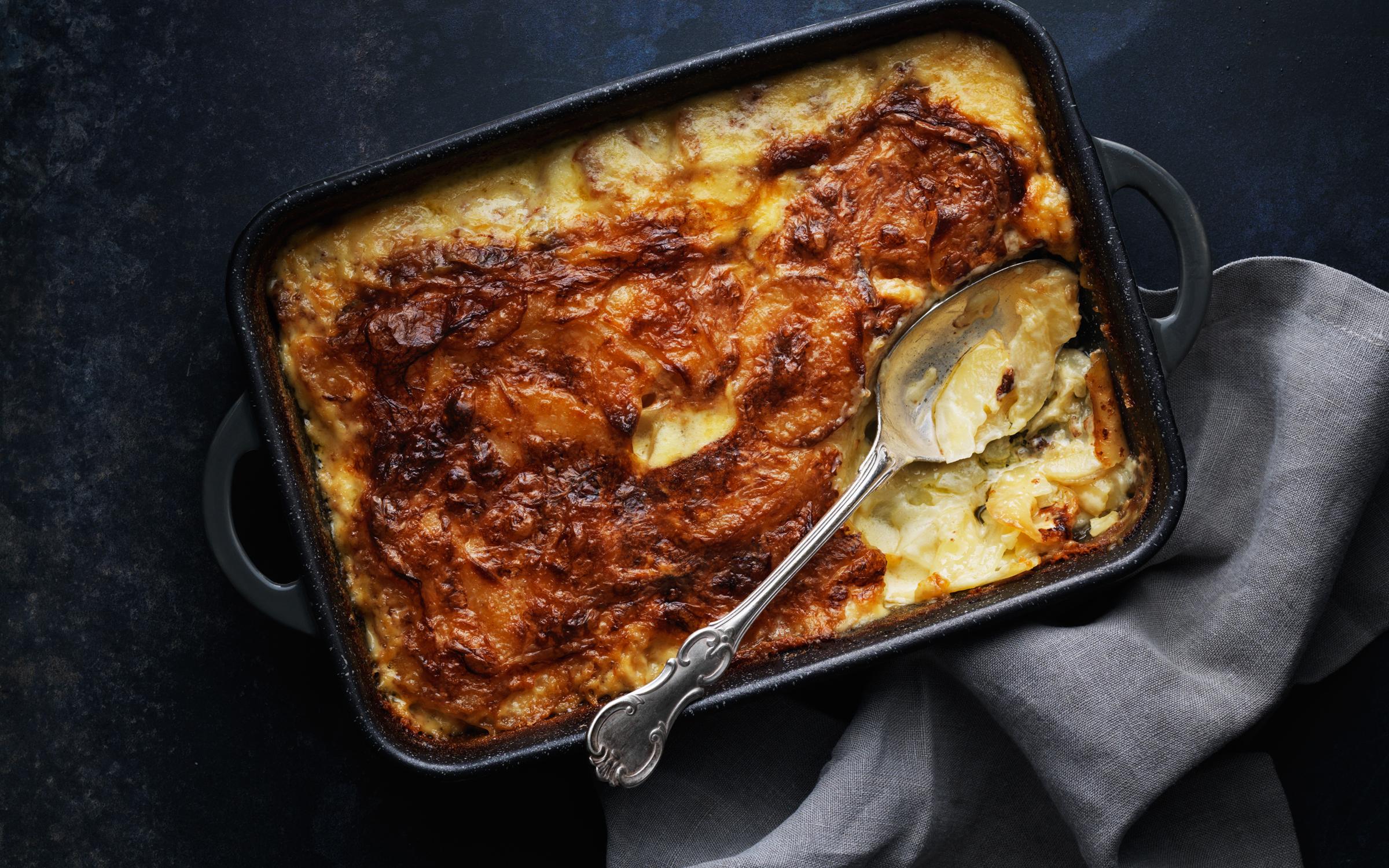 potatisgratäng utan ost