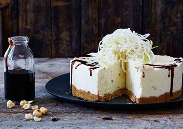 Blue cheesecake med pepparkaksbotten