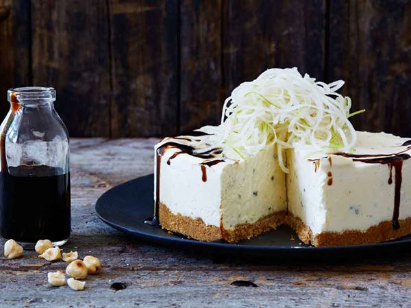Blue cheesecake med pepparkaksbotten