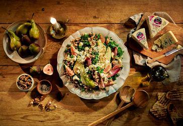 Lyxig sallad med Kvibille Ädel och fikon