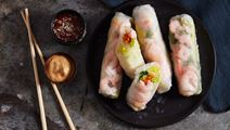 Vietnamesiska vårrullar med räkor