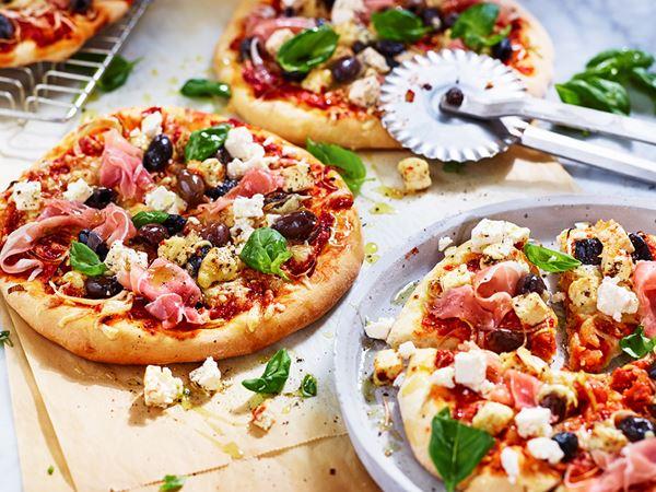 Pizza Italiano med vitost