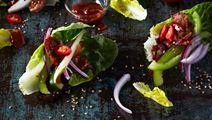 Ssam med sidfläsk och grön paprika