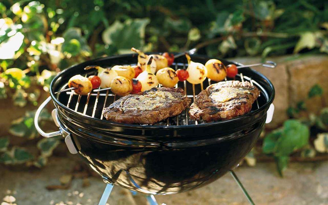 Grillat kött med chiliglaze