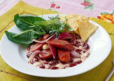 Bönor med chili och chorizo