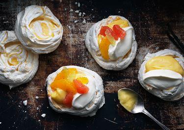 Fransk maräng med citruskräm