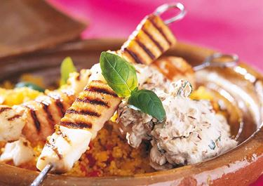 Fiskspett med italienskt smör