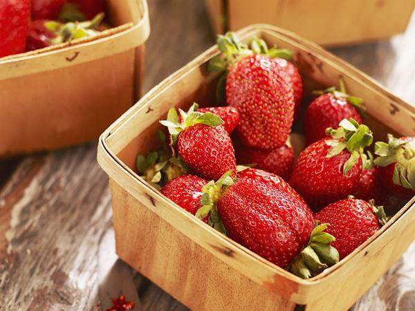 Rårörda jordgubbar