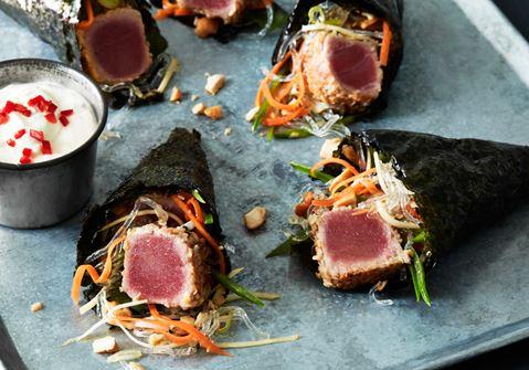 Grillad tonfisk med noriwrap