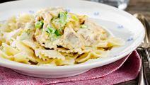 Pasta med italiensk kyckling