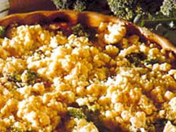 Smulpaj med skinka och broccoli