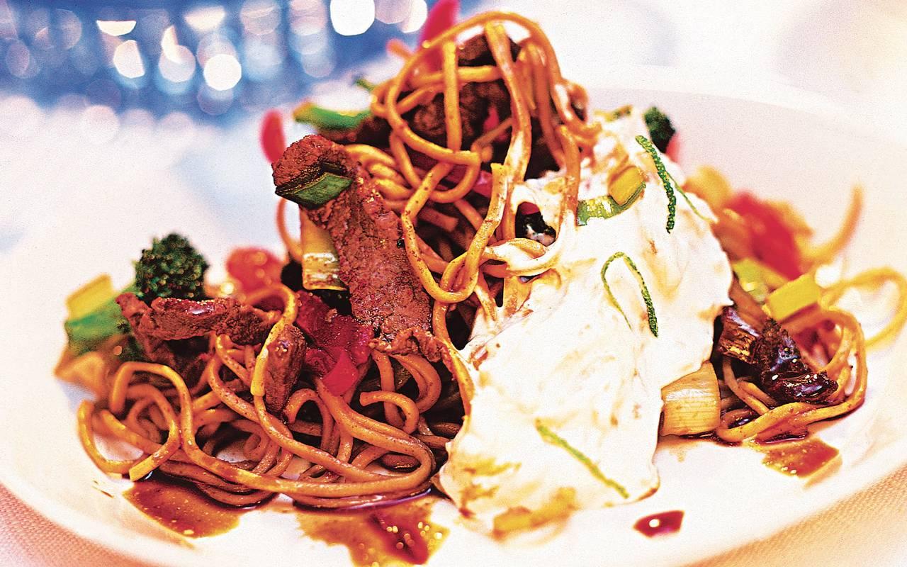 wok recept lövbiff