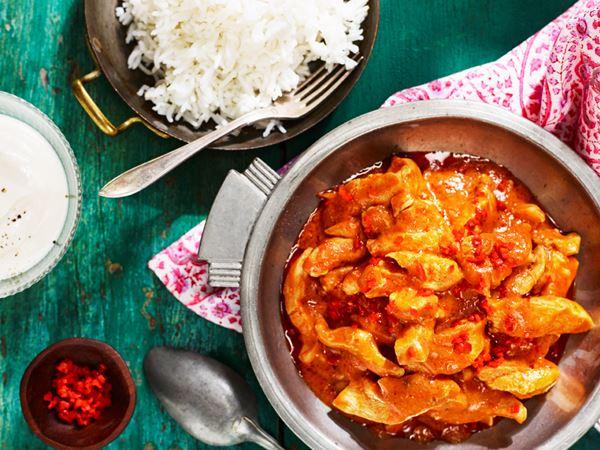 Kyckling masala med chili och yoghurt