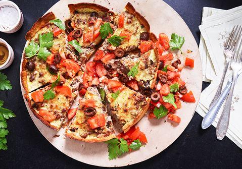 Köttfärspaj med oliver