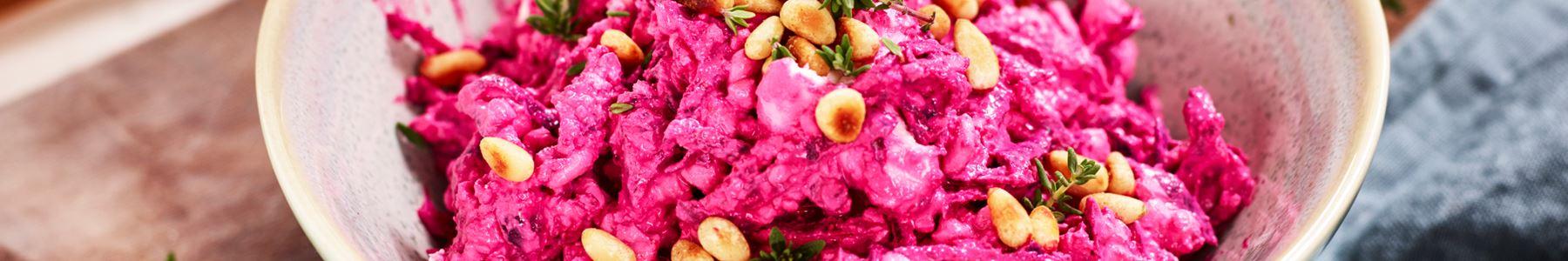 Pinjenötter + Vitost + Sallad