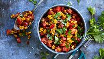 Rostad majssalsa med tomat och koriander