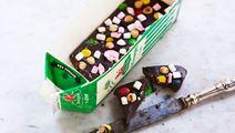 Chokladbräck i mjölkpaket