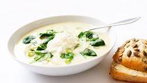 Sparrissoppa med fänkål och spenat