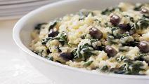 Spenatrisotto med oliver