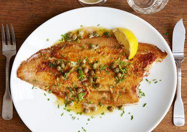 Fisk meunière med brynt smör