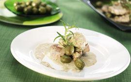 Fläskfilégryta med oliver