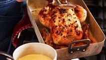 Kyckling med apelsinsås och stjärnanis