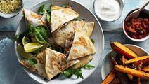 Quesadillas med bönröra och ost