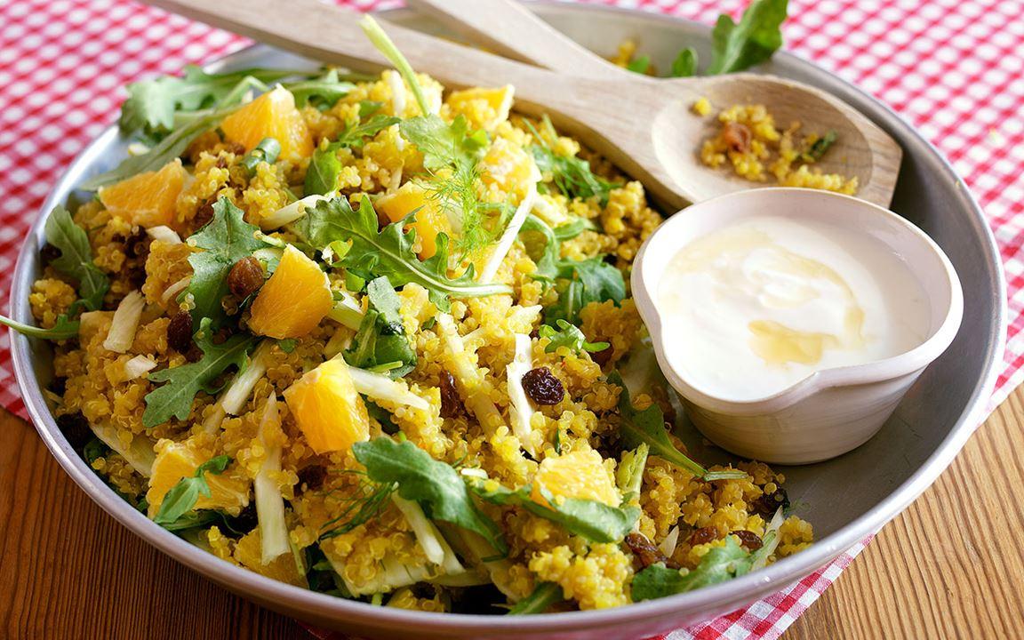 Quinoa med saffran