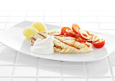 Grillad fisk med ingefärssås