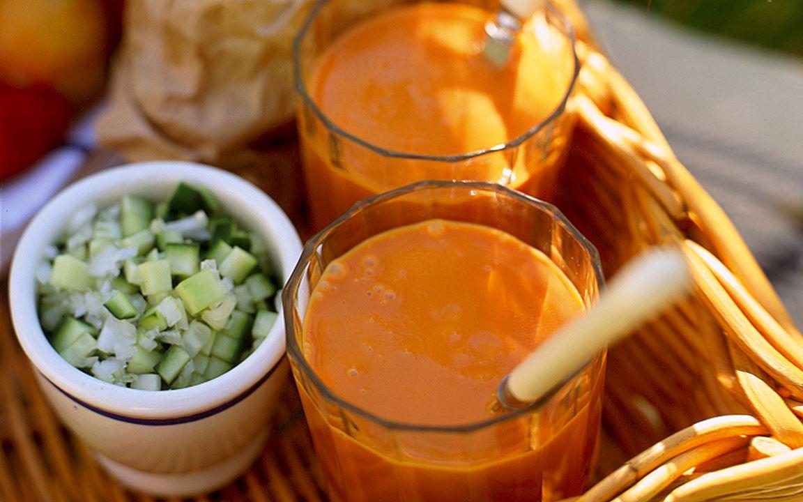 Enkel gazpacho
